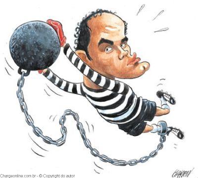 Resultado de imagem para charge bruno de volta a prisão