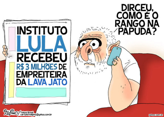 Resultado de imagem para AINDA PRESIDENTE, LULA ARRECADOU DINHEIRO PARA PT: charges