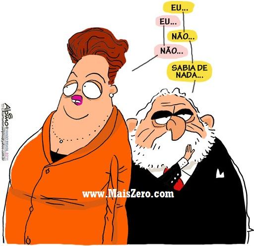 Resultado de imagem para Dilma e Lula caixa 2 charges
