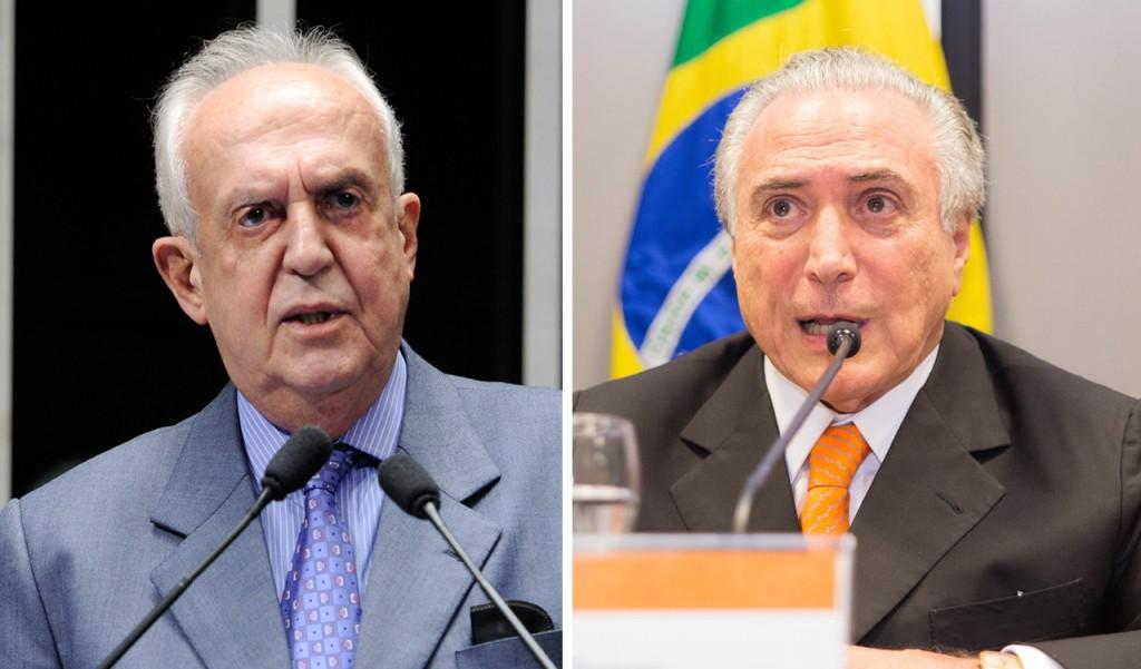 Jarbas Vasconcelos e Michel Temer