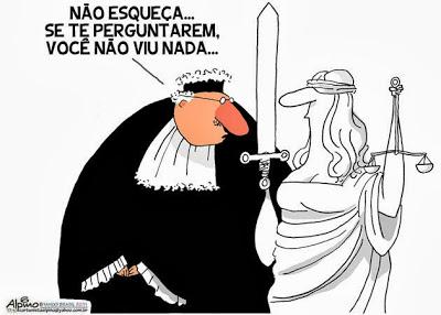 charge cumplicidade justiça Alpino | Pádua Campos